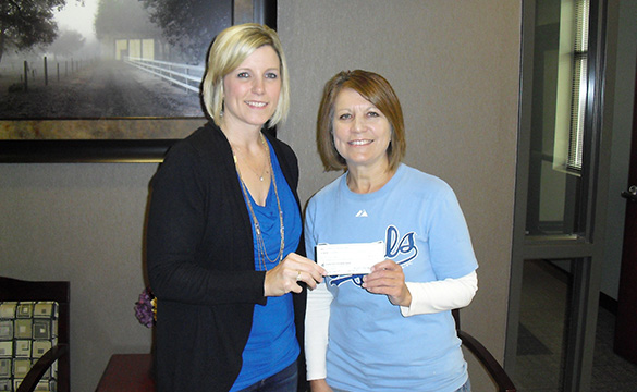 Check Presentation to Alice's Angels