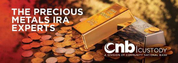 CNB Custody are the precious metals IRA experts